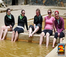 Lares  relaxing in the hot spring