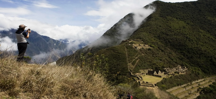 choquequirao view from the way mysterius lost city