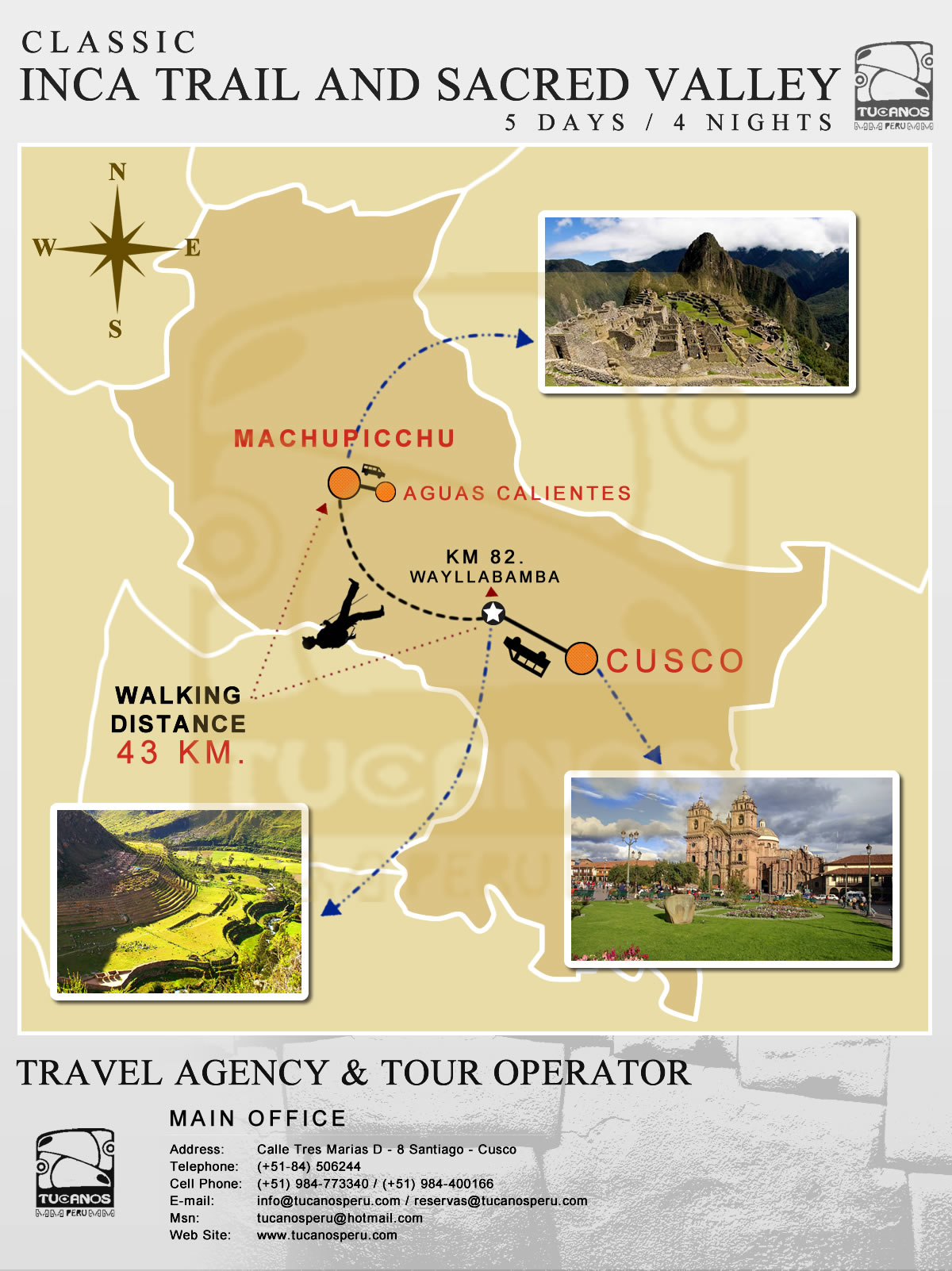 map Inca Trail With Extra Night