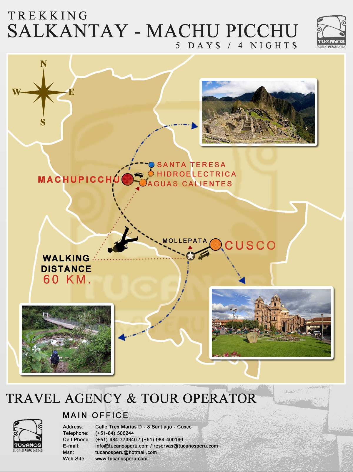 map salkantay trek to Machu Picchu